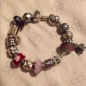 Charms and bracelet